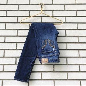 Hollister Distressed Paint Splattered Skinny Jeans